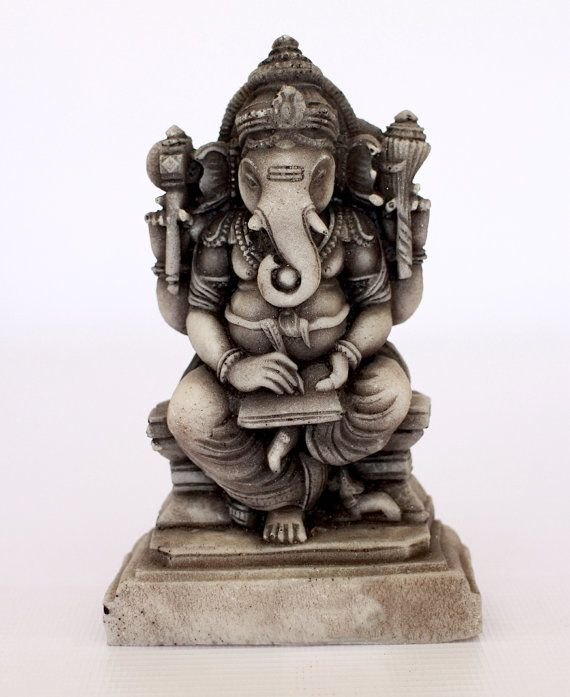 Exclusive Ganesha Figurine  marble from old Sri Lanka by ICMCM