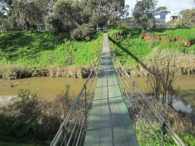 Swing Bridge over River Torrens, Adelaide