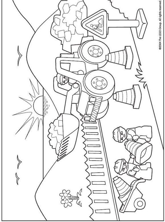 bagger auf der baustelle lego  my blog