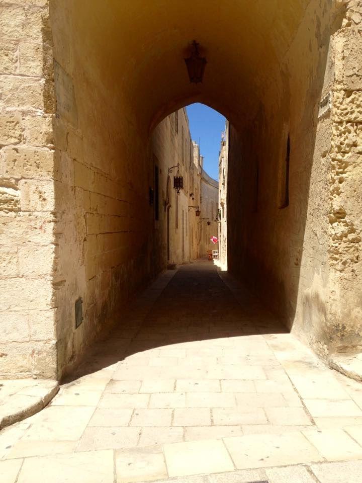love the ancient, narrow streets of Mdina Malta