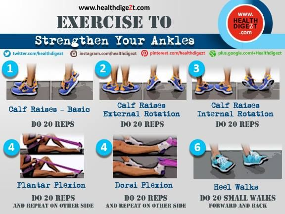Exercise to strengthen your ankle.  You can get your Lightweight Ankle Brace here: http://amzn.to/1GSZdFN