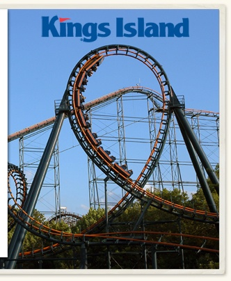 Kings Island... I gotta go here!!!! Looooove roller coasters!