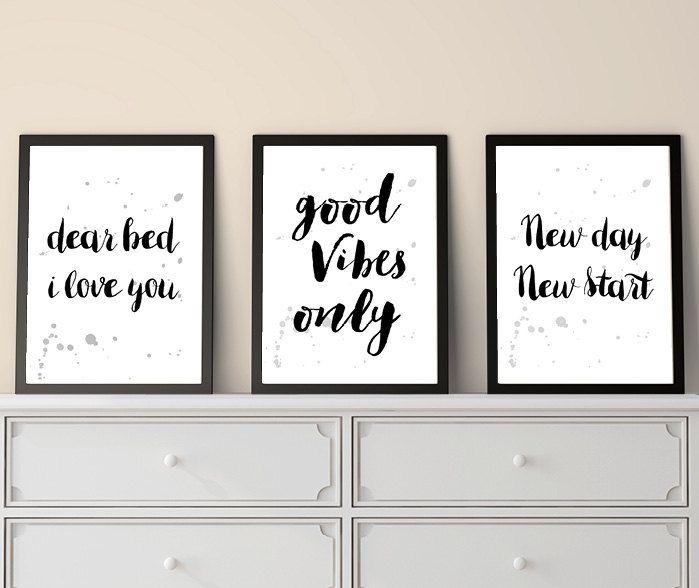 Set of 3 Prints, Inspirational Quotes, Positive Quotes, Quote Prints, Small Prints, Print Set, Last Minute, Christmas Gifts, Printable Quote by UrbanEpiphanyPrints on Etsy