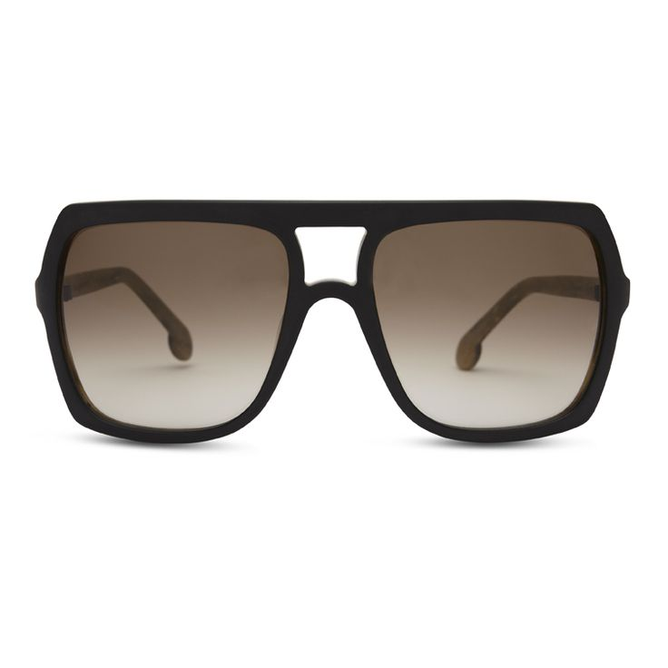 NEW CG SUN Ace Face in Matte Black Wood - Claire Goldsmith Eyewear - #clairegoldsmith #eyewear #sunglasses #aceface #british