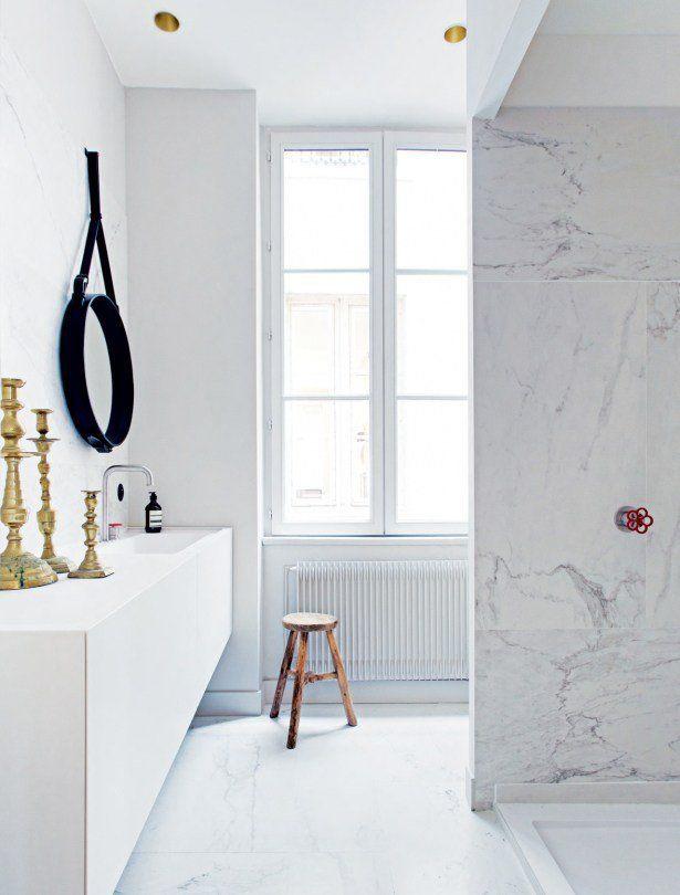 Coup de coeur pour cette salle de bain élégante sur @decocrush - www.decocrush.fr #marble