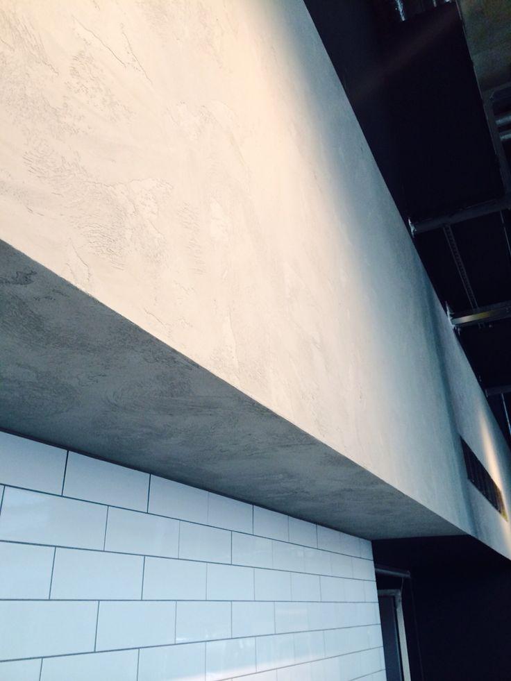 Concrete finish in plaster