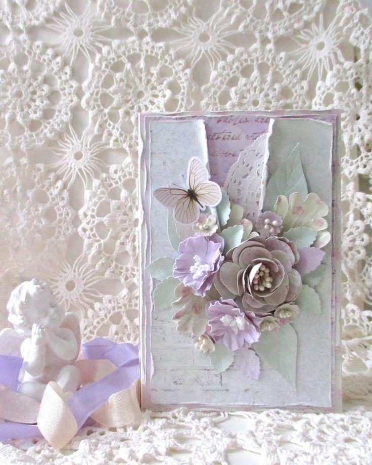 открытка с цветами своими руками скрапбукинг течение двух