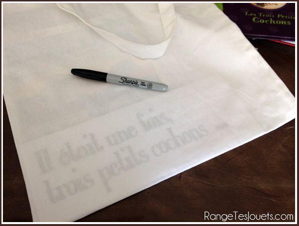 Personnaliser un tot bag pour la maîtresse