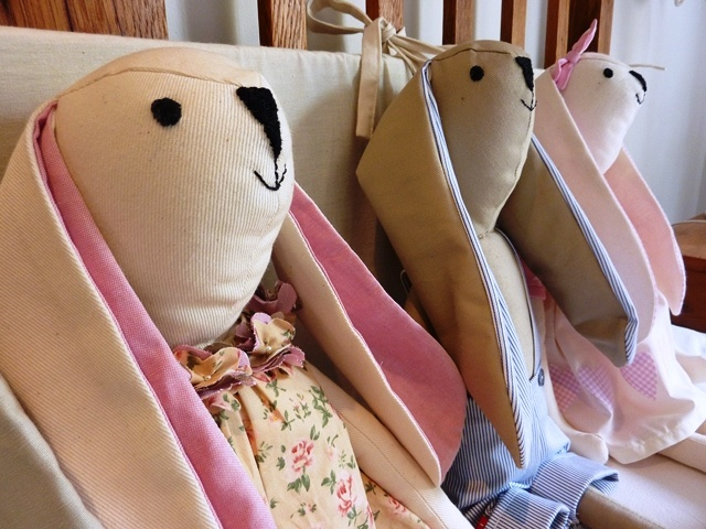 Soft bunny toys, dressed as boys or girls, handmade with love. Find these cute gifts at www.ietsienice.co.za.