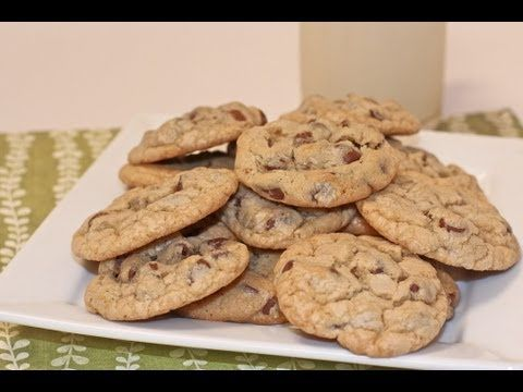 This chocolate chip cookie recipe bakes up soft, chewy and addicting! So easy with simple ingredients. Old fashioned, bakery-style texture from scratch.