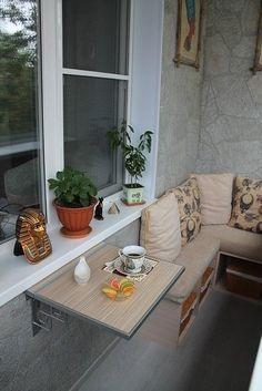 Эргономичный и уютный дизайн балкона - Дизайн интерьеров | Идеи вашего дома…
