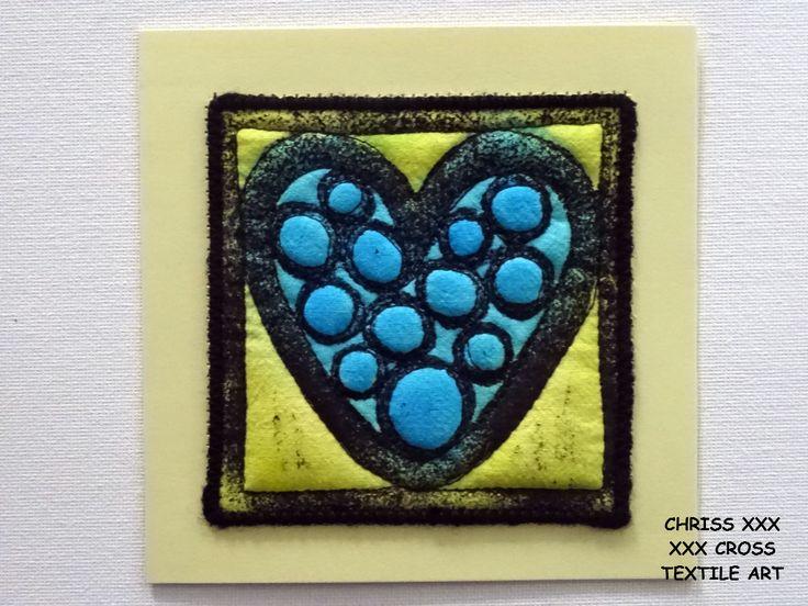 Kunstkaart / Mail Art van Kunst per post Afmeting kaart: 13x13cm (bxh) Afmeting kunstwerk: 10x10cm (bxh) Kleur: blauw - geel