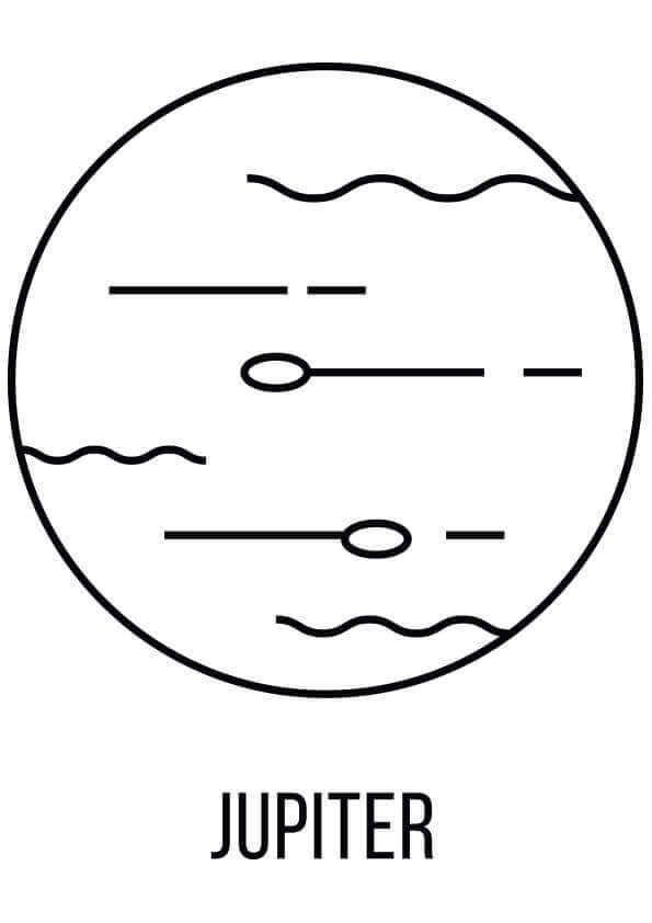 Jupiter Coloring Page