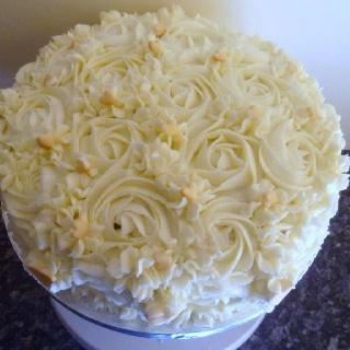 My scrummy birthday cake made by me x
