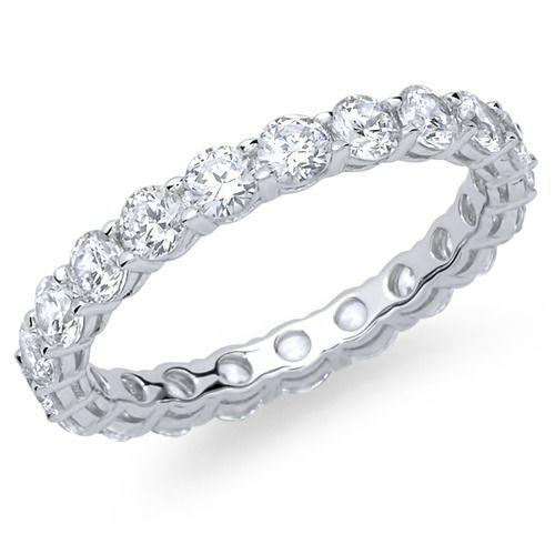 Unique Verlobungsring Silber viele Zirkonia.