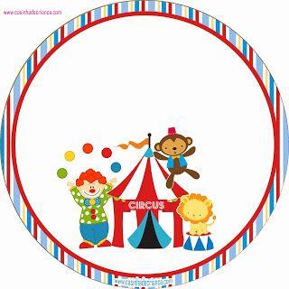 Kit Festa Circo Para Imprimir Grátis