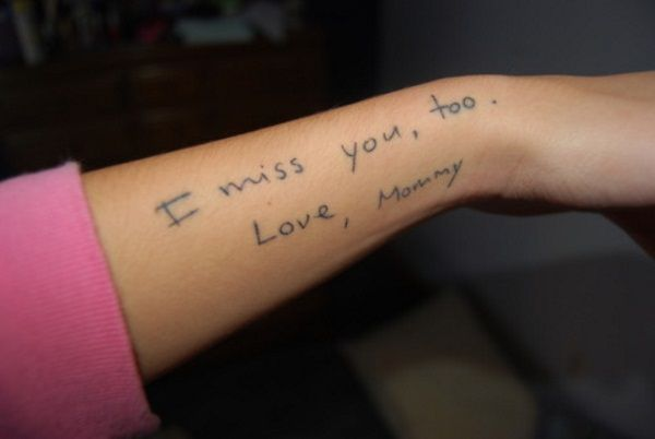 25+ best ideas about Handwriting Tattoos on Pinterest ...