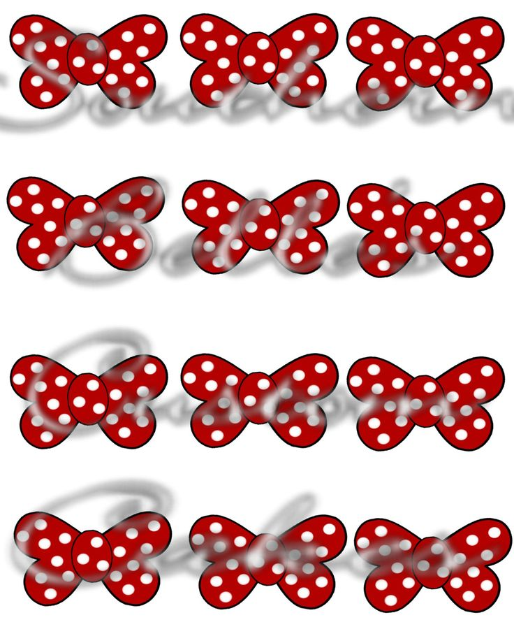 Edible Polkadot Bow Cupcake/Cake toppers by SouthernBellsCustoms on Etsy