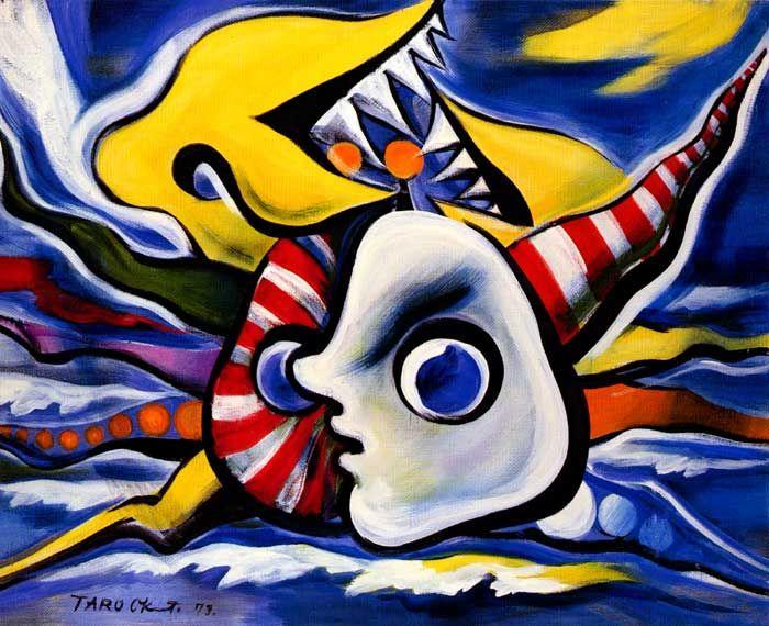 Taro Okamoto 1973 Seaside Portrait