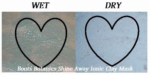 Boots Botanics Shine Away Ionic Clay Mask goes on wet and dark, dries up a lighter color! #powerofplants @Influenster #JAdoreVoxBox