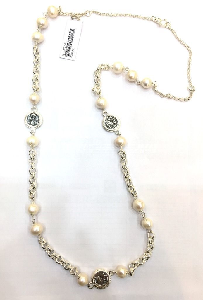 Gerardo Sacco - Collana con Monete e Perle - in Argento 925 - Ref. 40018b | Orologi e gioielli, Gioielli di lusso, Collane e pendagli | eBay!