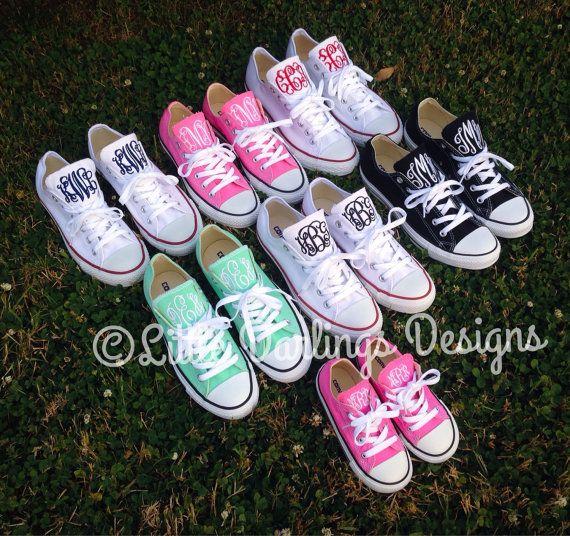 Women's Monogrammed Converse Sneakers by LilDarlingsDesigns, $69.00  I want my sneaks monogrammed!