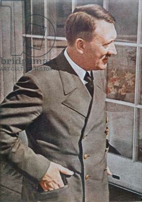 Adolf Hitler (1889-1945) 1944 (colour photo)