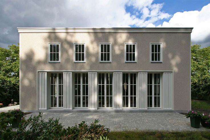 Helles Massivhaus mit Flachdach - VOGEL CG ARCHITEKTEN BERLIN