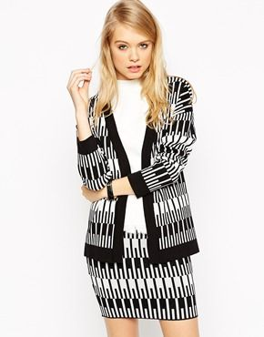 ASOS Co-Ord Cardigan in Mono Jacquard, $73.08  Channelling the perfect Clueless vibe, I like the twist on the popular co-ord style.