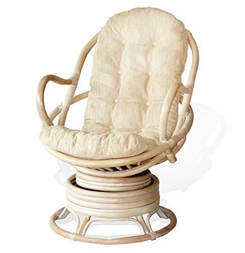 A wonderfully sized seat and a pleasant traditional style make this Rattan Swivel Chair is one of our best selling products. It is a wonderful decor addition to any place of your home. The durable frame is made of natural rattan. Our thick cushion is very comfortable and provides you with extra... see more details at https://bestselleroutlets.com/home-kitchen/furniture/living-room-furniture/product-review-for-java-swivel-rocking-chair-white-wash-with-cream-cushion-handmade-na