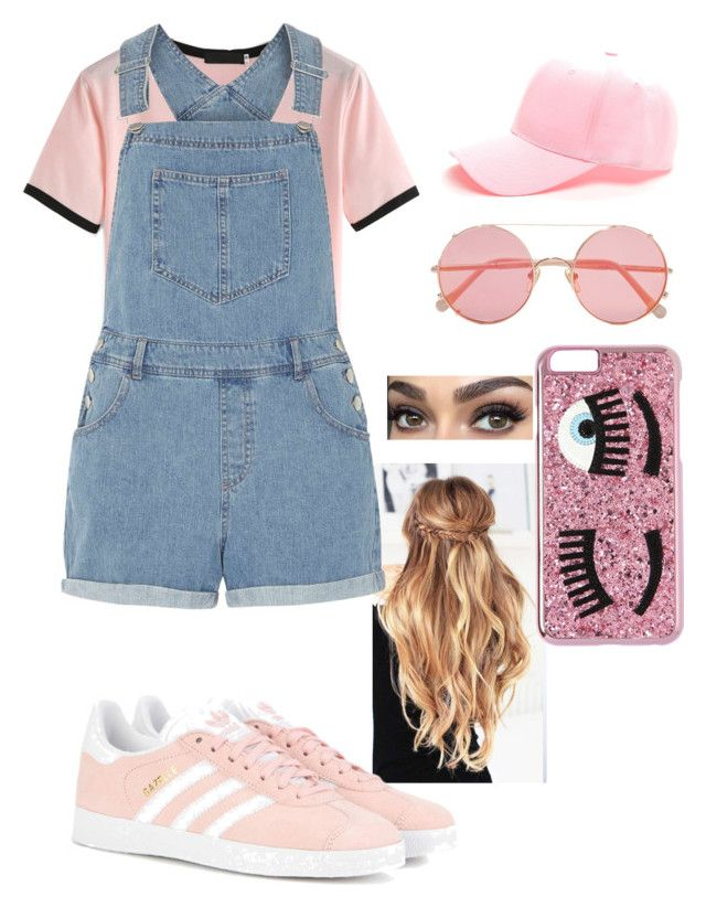 """Active"" by lovableln on Polyvore featuring Dorothy Perkins, adidas Originals, Sunday Somewhere and Chiara Ferragni"