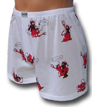 Pamut boxer alsónadrág ördögökkel