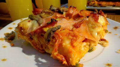 Πίτσα θεική με πολύ ωραία ζύμη !!!