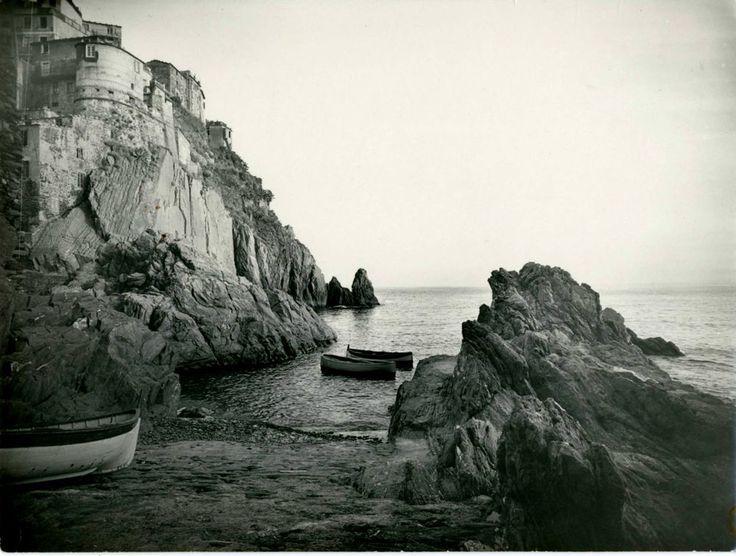 PORTOVENERE (LA SPEZIA) LE BARCHE IL MARE-FOTO D EPOCA-RODOLFO ZANCOLLI ANNI 30