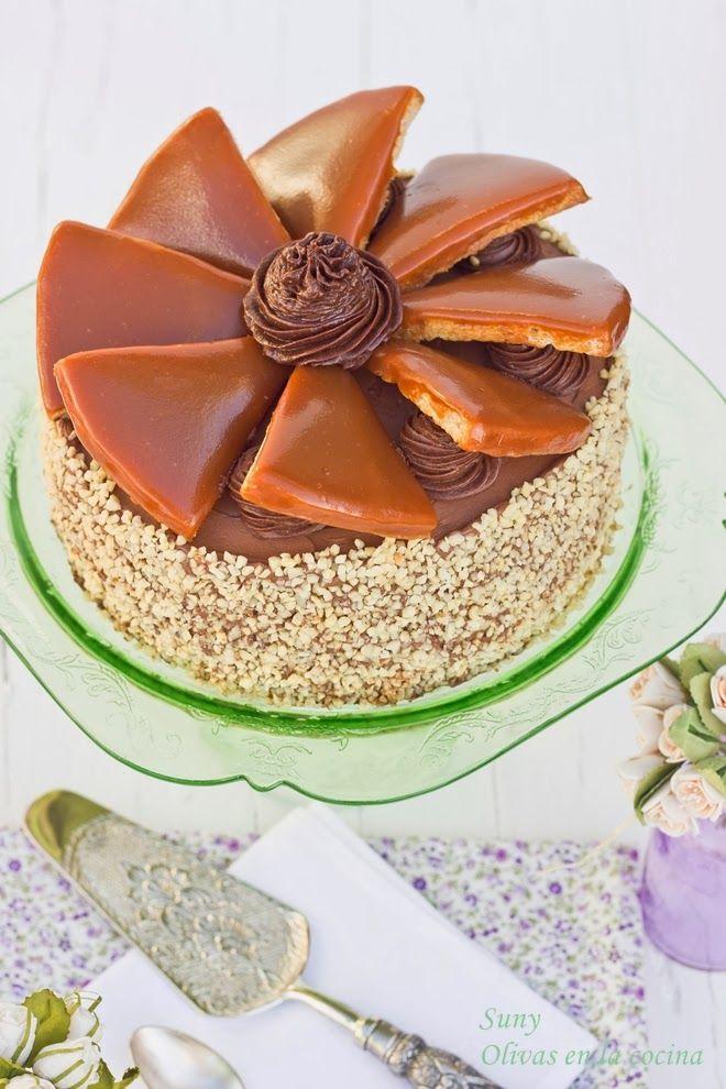 Tarta Dobos, Dobos Torte. Una tarta de chocolate exquisita y con un aspecto muy tentador.