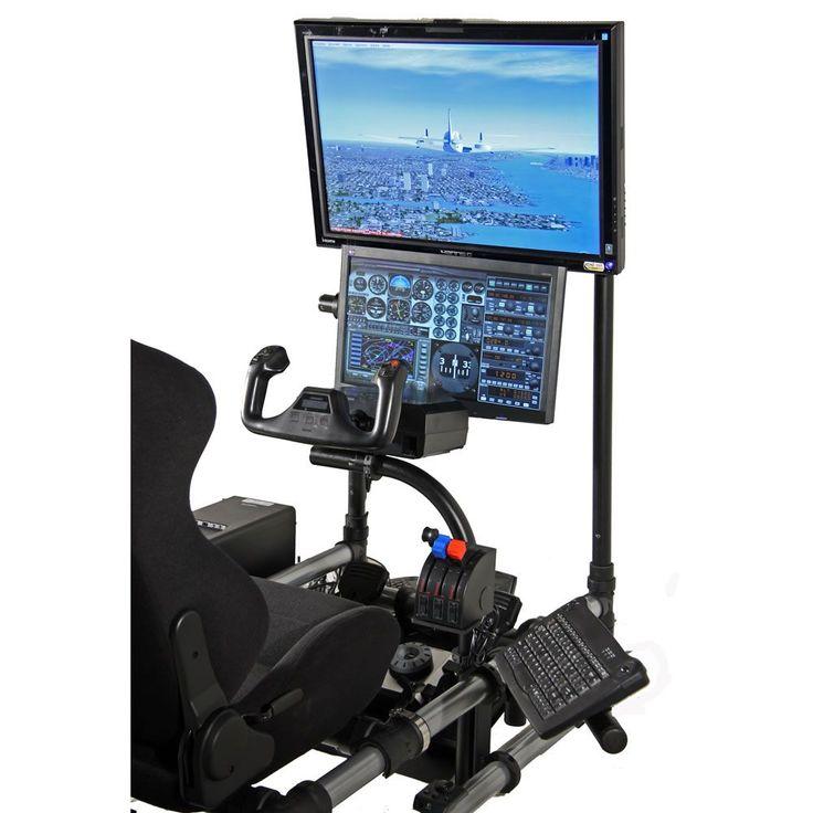 The Cockpit Flight Simulator - Hammacher Schlemmer