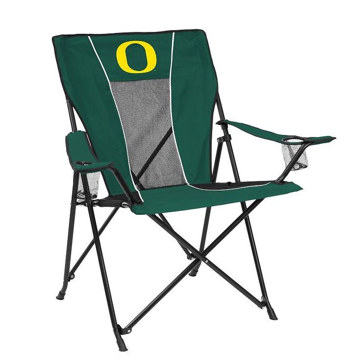 Outdoor Adult Logo Brand Oregon Ducks Game Time Portable Folding Chair, Multicolor