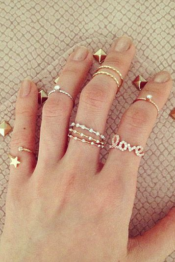 Bijoux : #Rings - thin stacked rings
