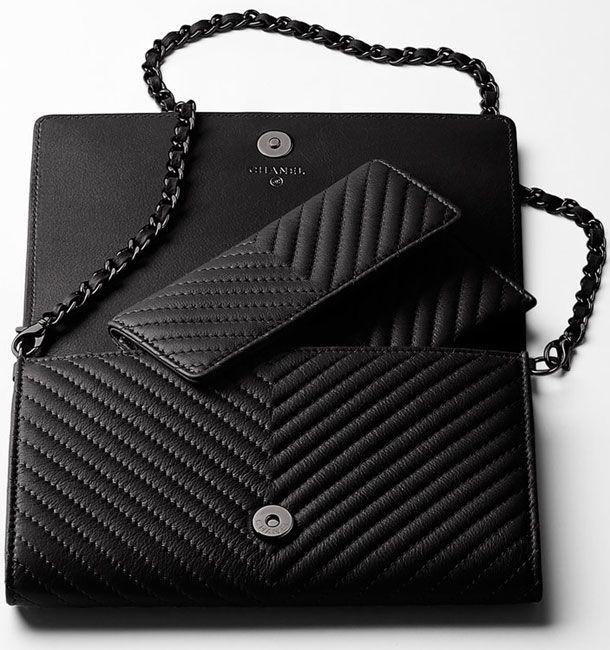 Chanel Boy Chevron Wallet On Chain Chanel Pinterest