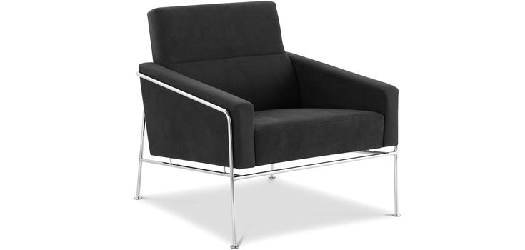 fauteuil de salon design 3300 easy chair style arne jacobsen tissu chairs pinterest. Black Bedroom Furniture Sets. Home Design Ideas