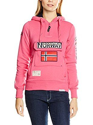 GEOGRAPHICAL NORWAY Felpa Cappuccio Sweatmolletoneecapuchezippecotonwn