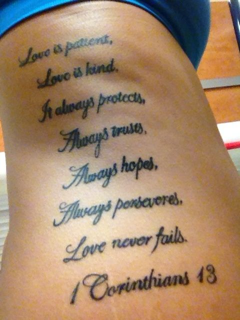 1 corinthians 13 13 tattoo google search artsy for Tattoos good or bad bible