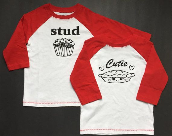 Twins Valentine's Day Shirt Set Stud Muffin Cutie by JoJosTees