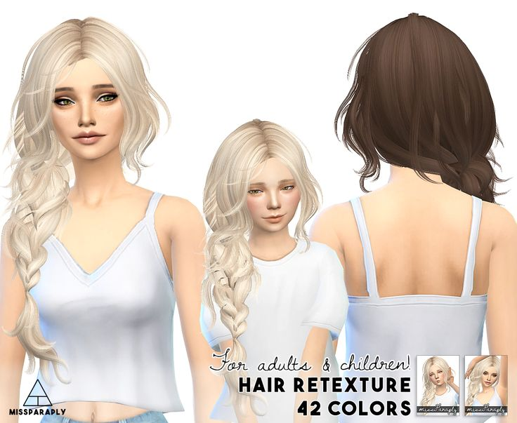 Miss Paraply: Maysims 43 hairstyle retextured - Sims 4 Hairs - http://sims4hairs.com/miss-paraply-maysims-43-hairstyle-retextured/