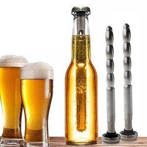 ZOGIN Lot de 2PCS Rafraîchisseur de Bière Refroidisseur de Bière Acier Inox Chiller Stick Beer Cooler Rod Bâtons de refroidissement…