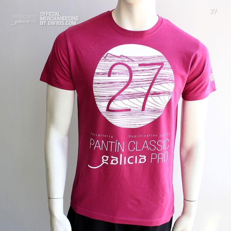 T-Shirt PANTÍN 27 (Malva oscuro). Camiseta oficial PANTIN CLASSIC PRO, evento 27 en color malva oscuro.