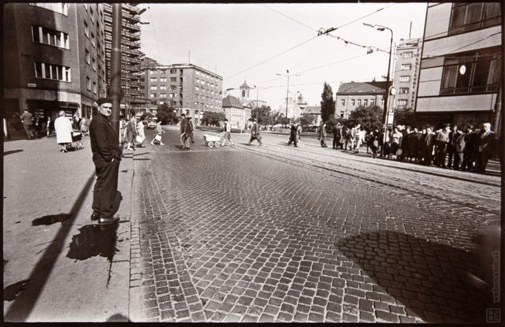 Pavol Poljak:Slovakia, Bratislava. Kamenné square:1971