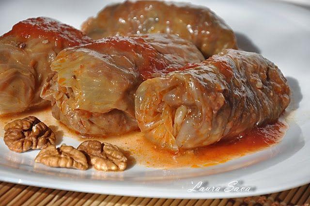 Sarmale de post cu nuci si ciuperci   Retete culinare cu Laura Sava