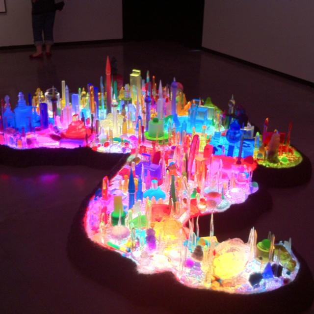 City 0000 (Kandor) by Mike Kelley Light art installation. Sculpture.   tiny illuminated city
