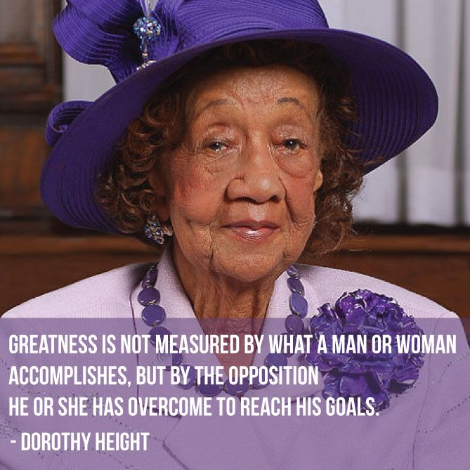 Dorothy Height spent her life focused on improving the opportunities of African American women. Working with some of the major Civil Rights activists, including Martin Luther King Jr, Height was a key organizer of the 1963 March on Washington, and in 1971 she help to found the National Women's Political Caucus. #kickasscivilrightsleaders
